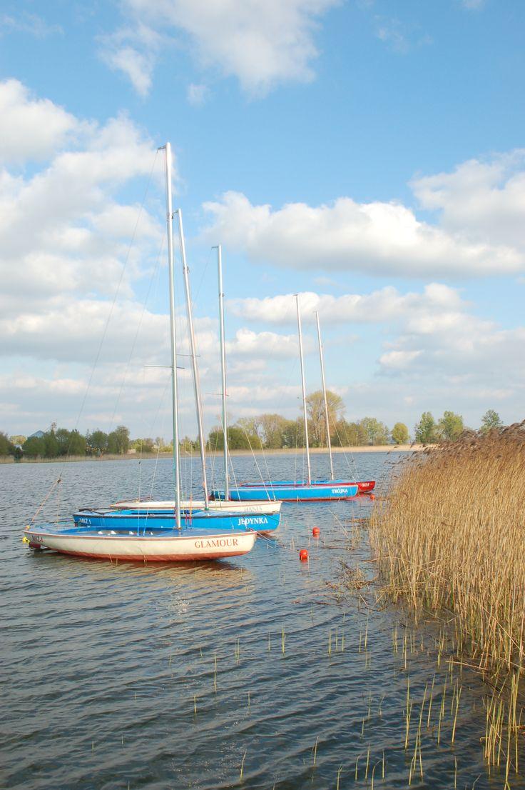 Przystań żeglarska na J. Łódzko-Dymaczewskim, Wielkopolski Park Narodowy, Polska