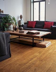 Zoooo mooi deze kleur vloer; Zooo warm bij de antraciet bank