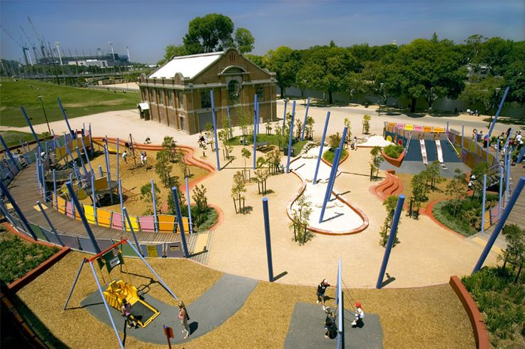 Birrarung Marr Playground  Situated on the north bank of the Yarra River next to Federation Square