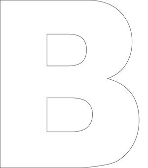 This alphabet is in uppercase and the bold letters are ideal for stamping and decorating. Use these letters in your card making and scrapbook projects.: B - Free Printable Upper Case Alphabet Template