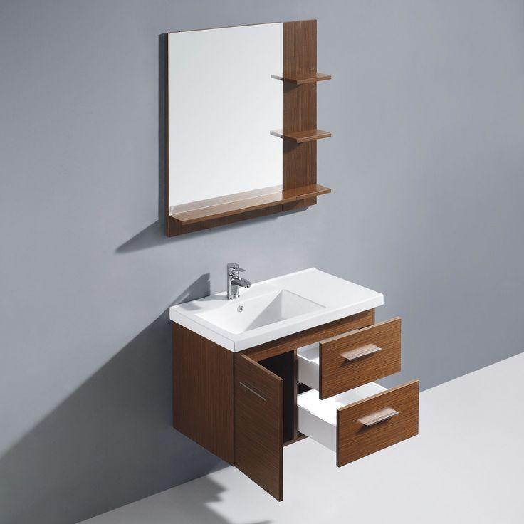 shop for the vigo wenge moderna trio single bathroom vanity with mirror and shelf and save