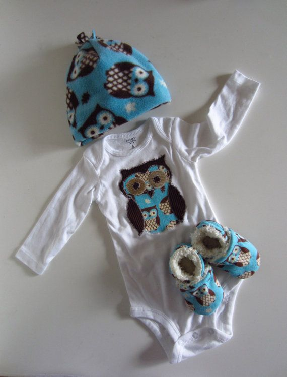 Adorable Owl Winter Baby Gift Set by jengalaxy on Etsy, $33.90