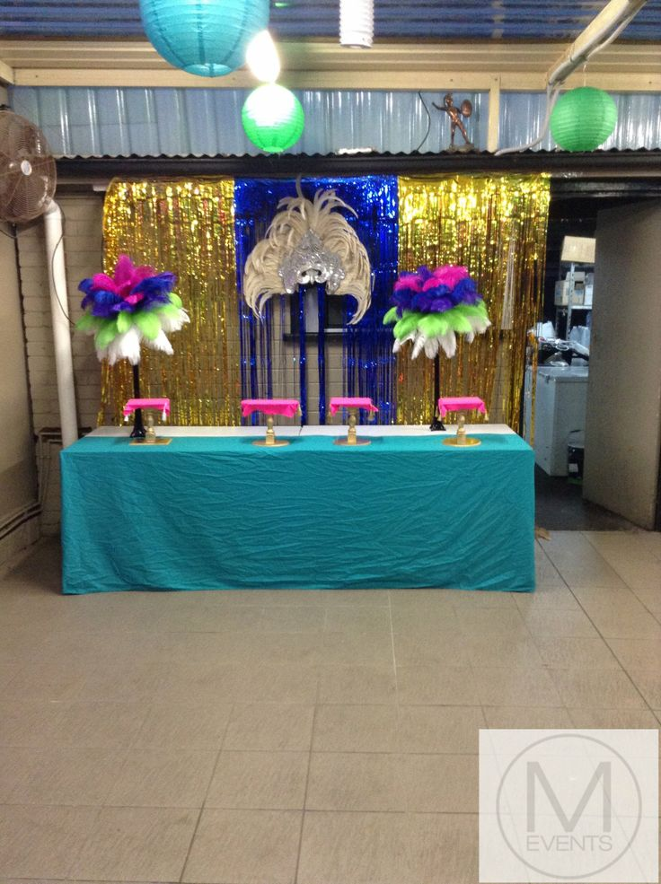 Dessert table set up Backdrop with samba