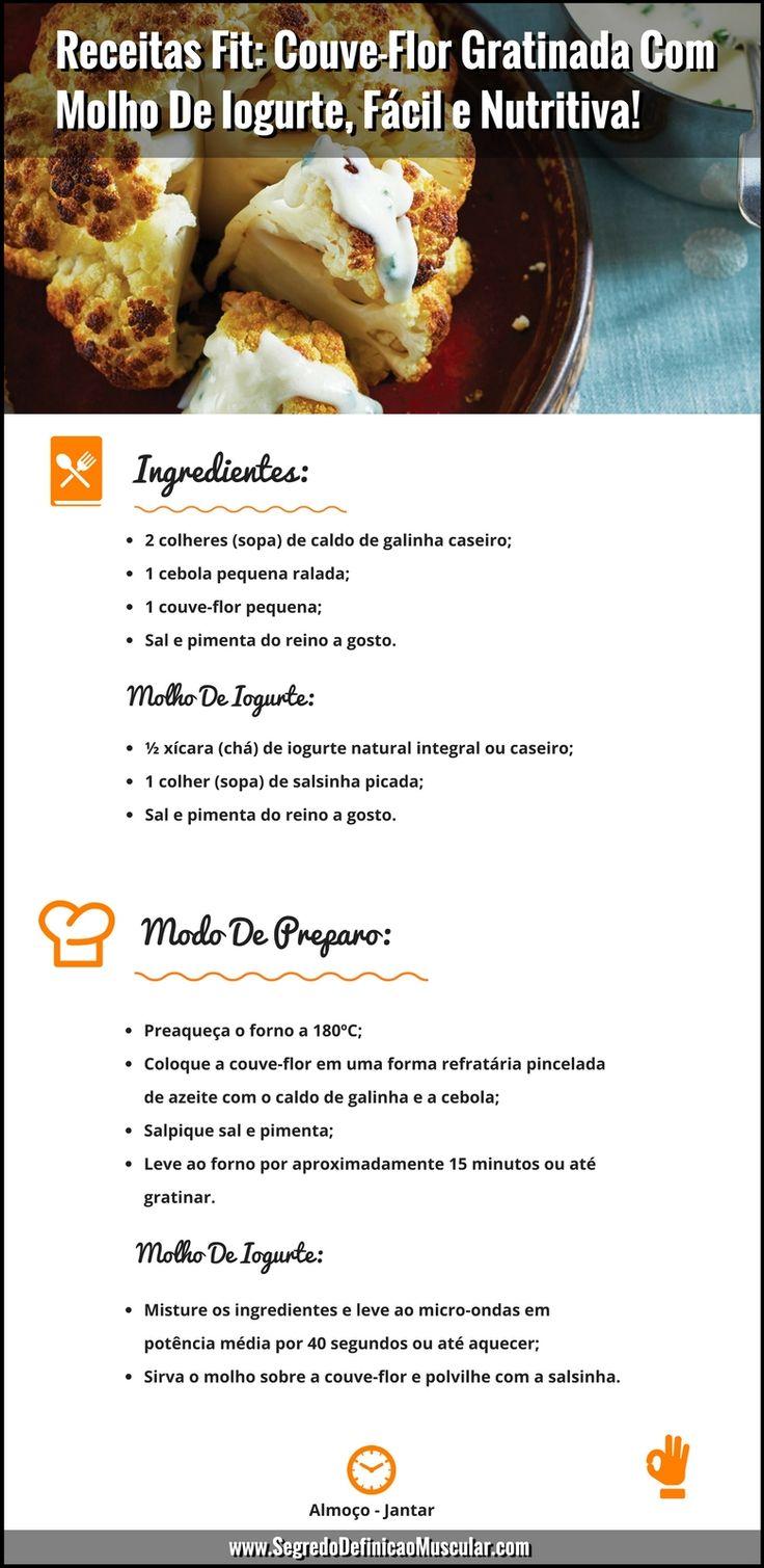 Receitas Fit Couve-Flor Gratinada Com Molho De Iogurte   ➡️ https://segredodefinicaomuscular.com/receitas-fit-couve-flor-gratinada-com-molho-de-iogurte-facil-e-nutritiva/  Se gostar da receita compartilhe com seus amigos :)  #receitasfit #receita #recipe #fit #receitafit #EstiloDeVidaFitness #ComoDefinirCorpo #SegredoDefiniçãoMuscular