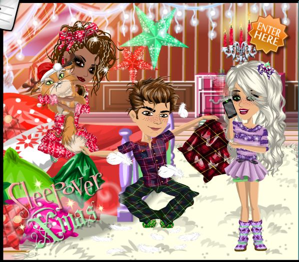 Sleeopover Xmas theme on #moviestarplanet #MSP www.moviestarplanet.com