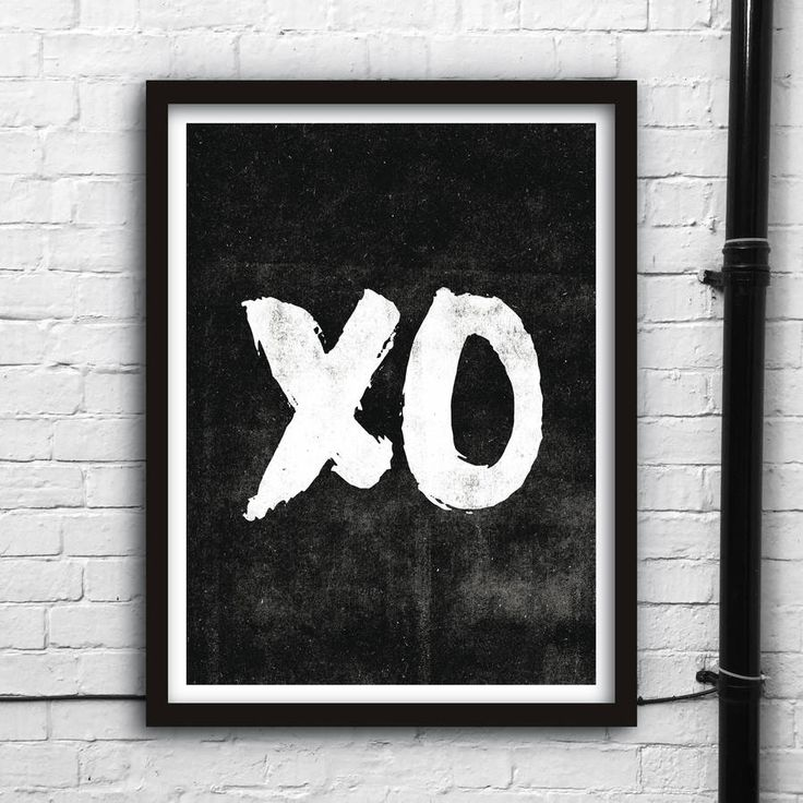 XO http://www.notonthehighstreet.com/themotivatedtype/product/xo-hugs-and-kisses-print Limited edition, order now!