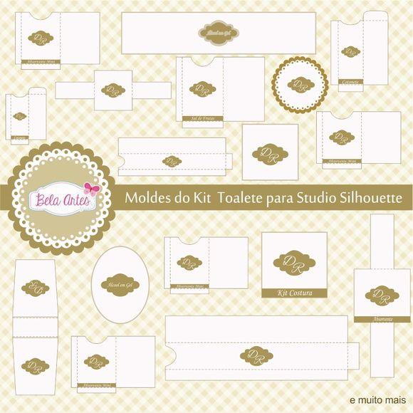Moldes Kit Toalete pra Studio Silhouette