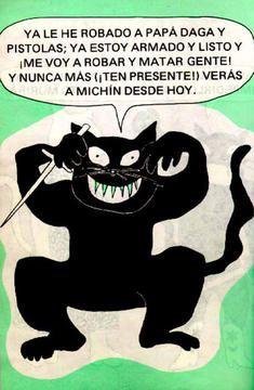 Linda representación en la página de la Biblioteca Virtual Luis Ángel Arango.Fábula del Gato Bandido de #Rafaelpombo. El gato se cree mejor que los demás y se dedica a hacer maldades.Pero todo le sale al revés y no logra ninguna de sus triquiñuelas. La reflexión o moraleja se refiere a ser modesto y a no dedicarse a hacer el mal ajeno pues todo se regresa a uno mismo. Tarde o temprano. #elgatobandido #literaturainfantil