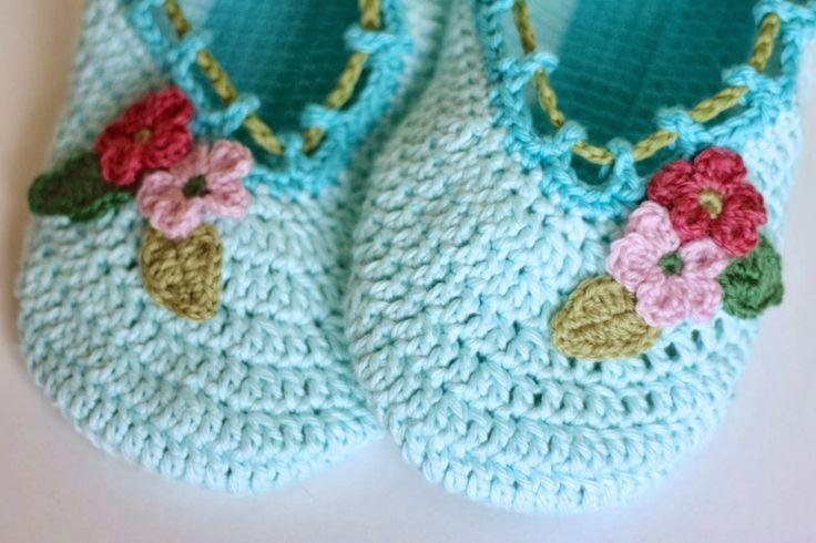 @ Cherry Heart: Pretty crochet slippers - pattern from Japanese crochet book