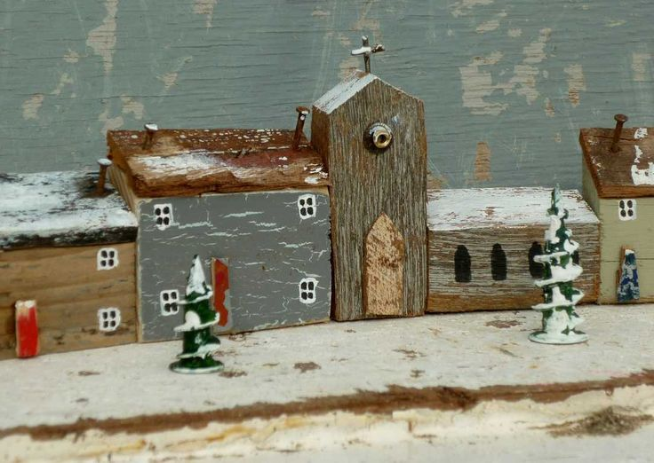 Christmas card with church  -  Kirsty Elson Designs