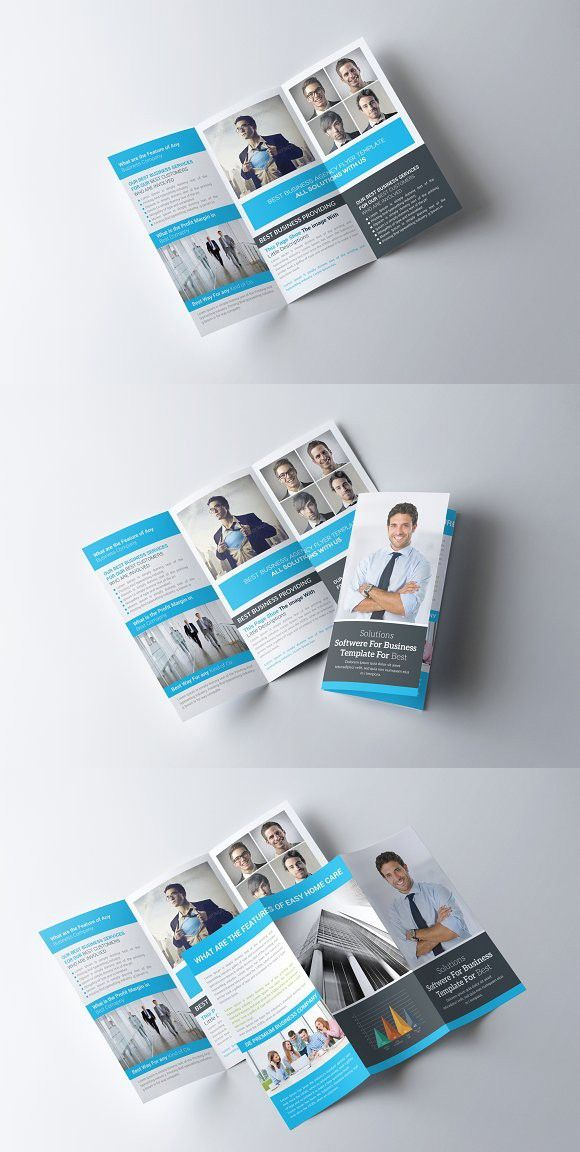 corporate trifold brochure template agency graphic one