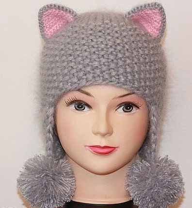 Шапка-кошка - Шапки, кепки, шляпки, повязки - Каталог файлов - Вязание для детей