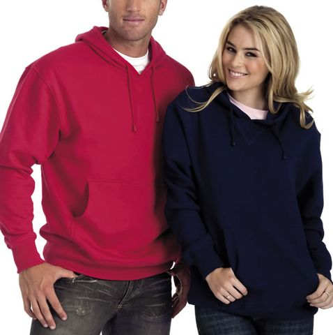 unisex hoodies with front pocket. Cotton rich, low pill 290gsm 80% cotton, 20% polyester. Brushed fleece inside, smooth jersey outside. Single layer hood, modern classic styling. Cotton knit cuffs and waist band. Plain colours black, grey marle, navy blue, sky blue. Mens unisex XS, S, M, L, 2XL, 3XL, 5XL. Ideal for screen printing and embroidery. Bulk wholesale prices. Buy online from blankclothing.com.au.