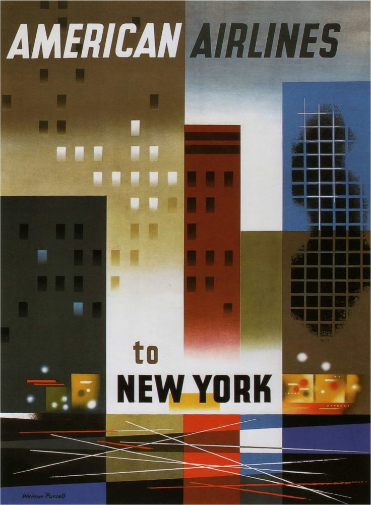 cover letter flight attendant%0A American Airlines to New York Travel Poster
