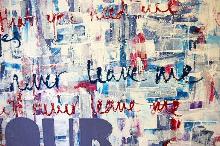 Details van schilderijen - Schilderij met tekst laten maken