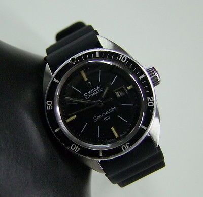 RARE 60'S OMEGA SEAMASTER 120 DIVER BLACK DIAL AUTOMATIC LAIDES in Jewellery & Watches, Watches, Wristwatches | eBay