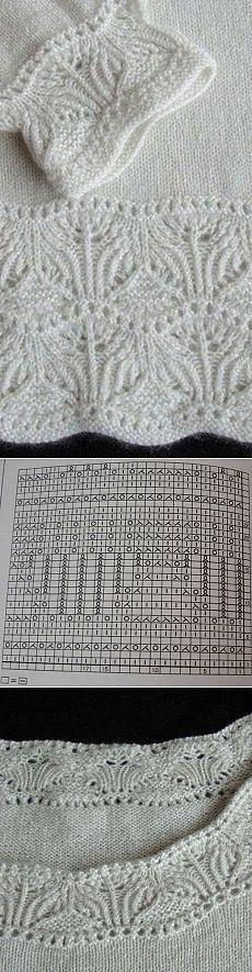 Схема каймы спицами