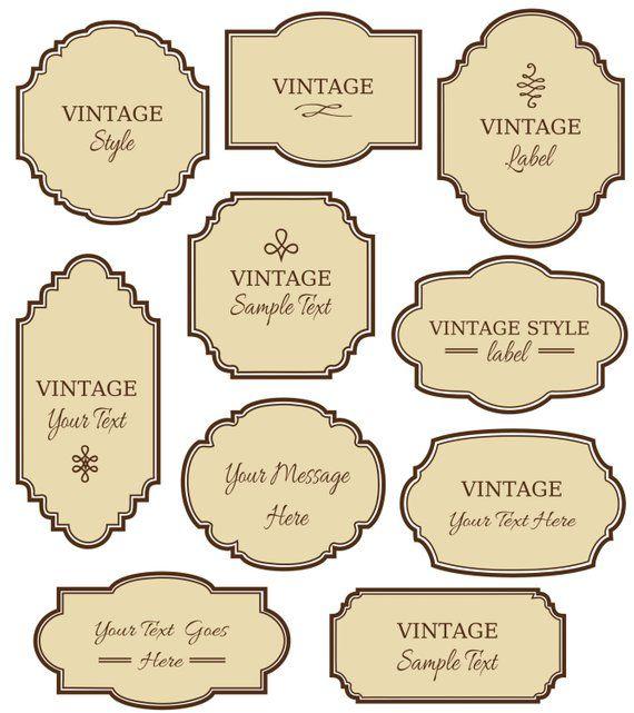Etiquetas Vintage Clip Art 10 Marcos Digitales Png Archivos Etsy Soap Labels Vintage Labels Clip Art Vintage