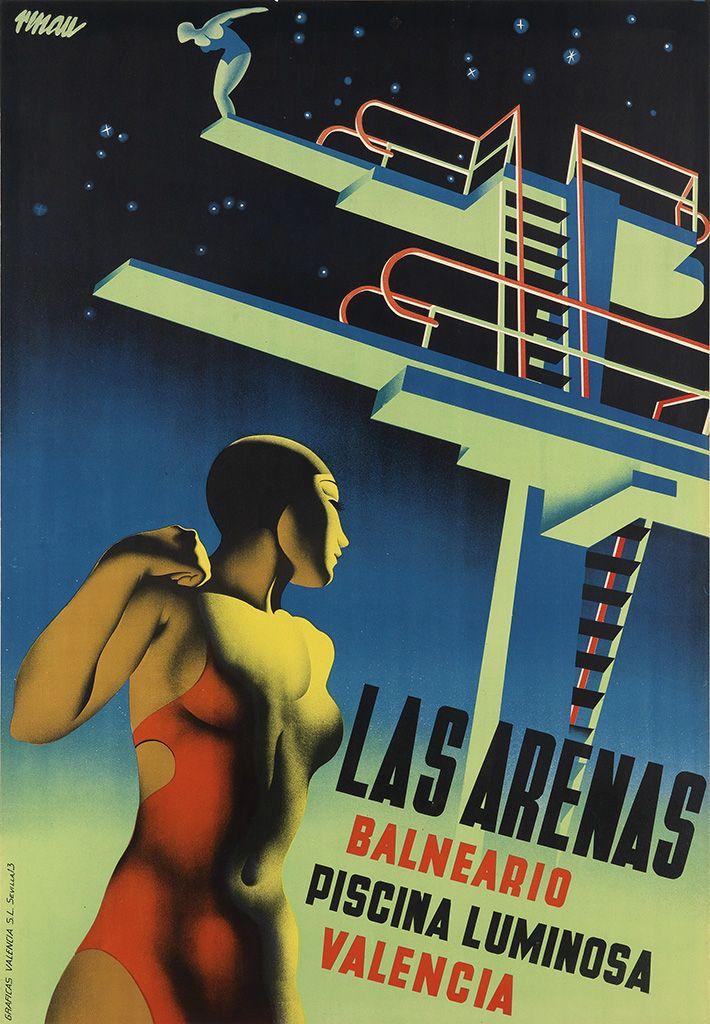 Valencia - Las arenas - 1932 - (Josep Renau-Montoro)