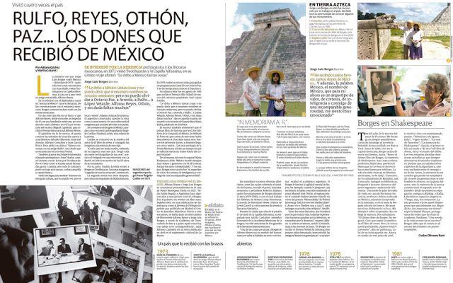 Borges todo el año: Jorge Luis Borges: Alfonso Reyes, Teotihuacán y Rulfo, imanes que lo atrajeron a México - Texto e imagen en La Razón, México, 14 de junio de 2016