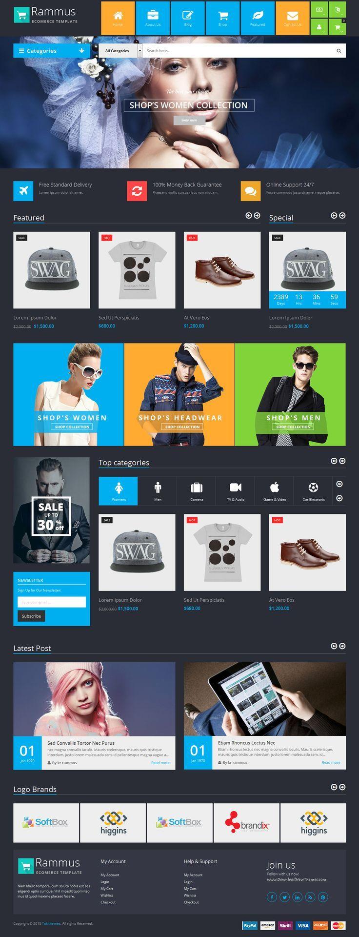 Rammus is responsive multipurpose magento theme designed