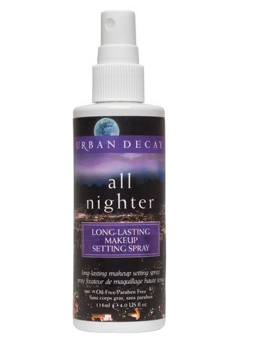 Urban Decay All Nighter. This really does set your make up and extend it's staying power. It will however give a matt appearance.