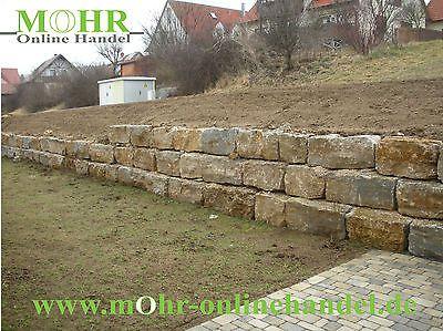 Muschelkalk Quader Bruchsteine Natursteine Trockenmauersteine 1000KG