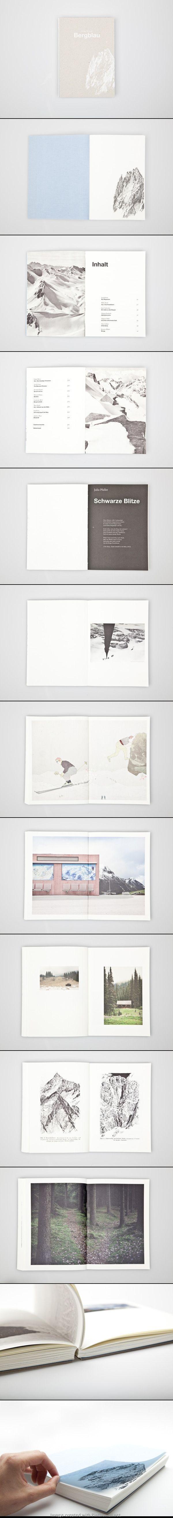 Bergblau book design - Simple layout design Inspiration