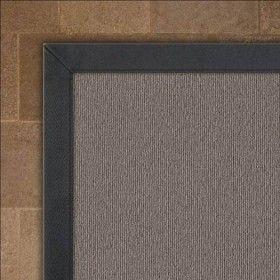 Crucial Trading Wool Kyoto Ash Rug Cotton Herringbone Slate Border