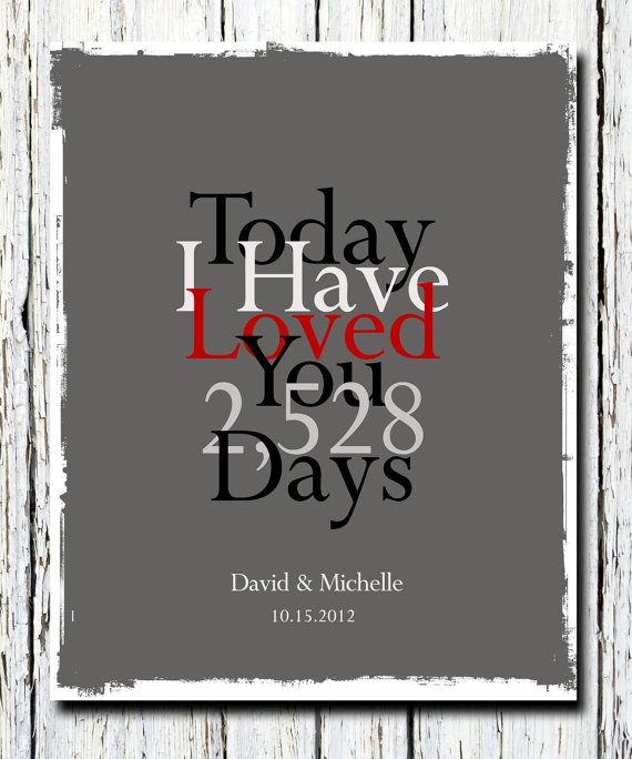 1st Paper Wedding Anniversary Gift, Personalized Date Wall Poster Print 8 x 10, Choose your colors and fonts