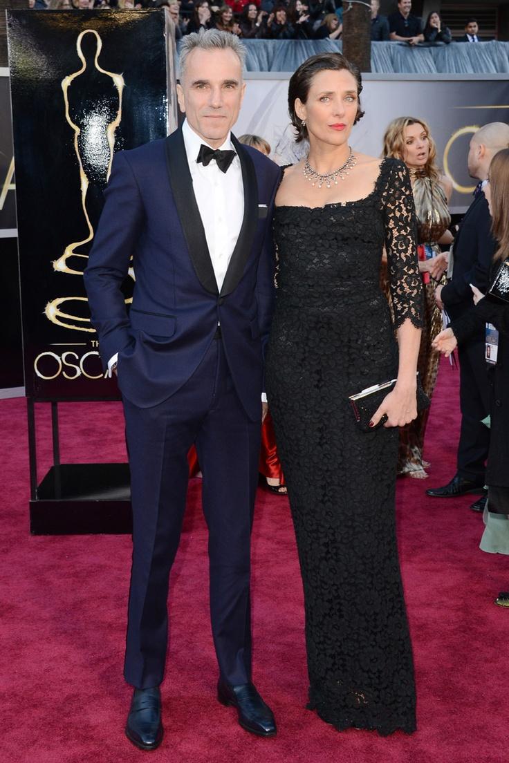 Todas las imágenes de celebrities y alfombra roja de los Oscars 2013: Daniel Day-Lewis y Rebecca Miller