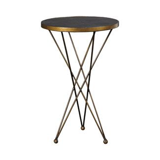 Hammary Hidden Treasures Martini End Table In Black And Gold Traditional  Side Tables And End Tables