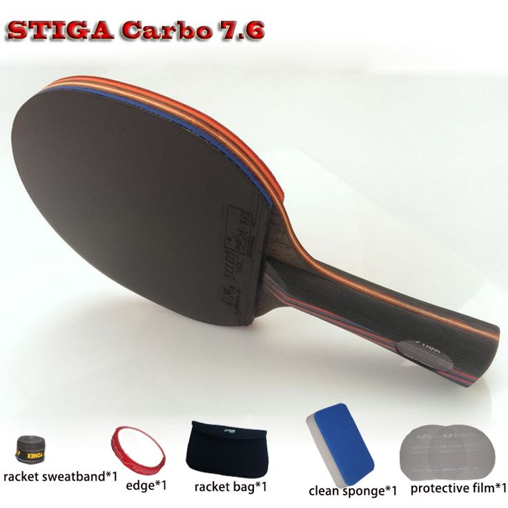 Tennis de table raquette WRB 7.6 pat ensemble 6 livraison cadeaux long manche courte poignée en fiber de carbone professionnel tennis de table raquette