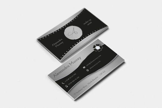 Biglietto da visita elegante nero e argento di FabioFerranteDesign