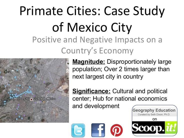 Primate Cities: Mexico City Slideshow showing how Mexico City fits Latin American model (Griffin-Ford) with many photographs from MC.