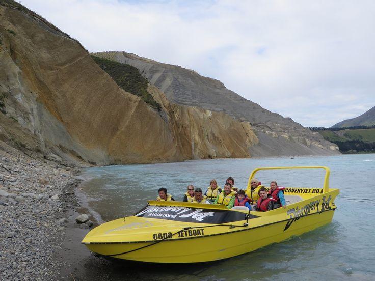 Jetboating in the Rakaia Gorge near Christchurch.