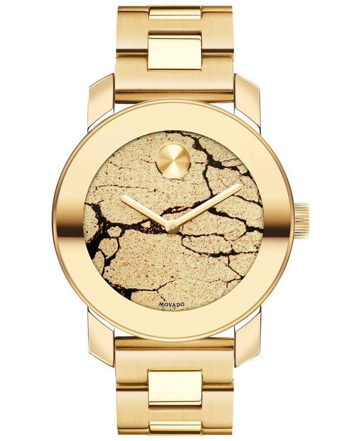 Movado Women's Swiss Bold Gold Ion-Plated Stainless Steel Bracelet Watch 36mm 3600346