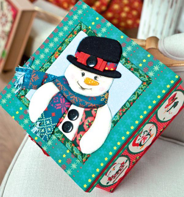 Caixa em MDF de Natal com cartonagem!
