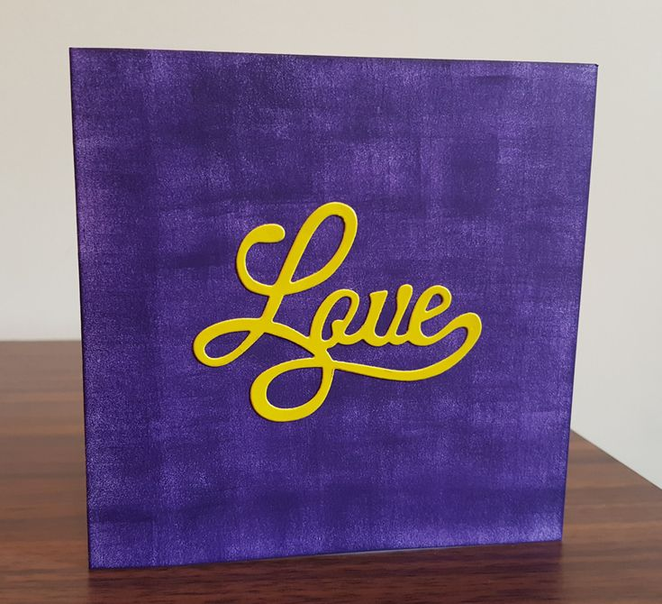 Purple Love Valentines Day Card, Anniversary Cards, Cards for Her, Cards for Him, Love Cards by CreativeDuz on Etsy