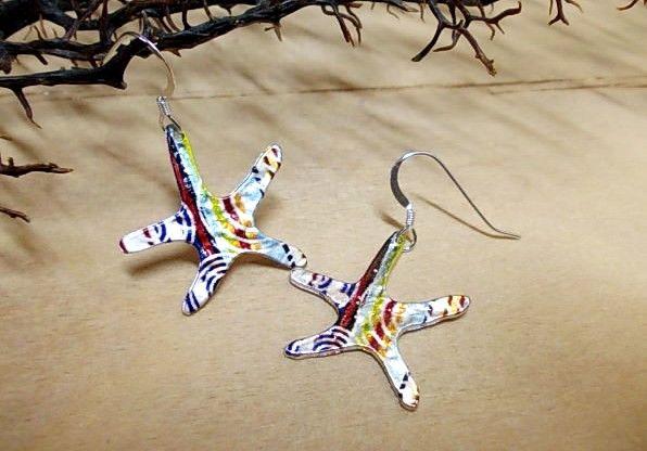 Painted starfish...love summer...<3