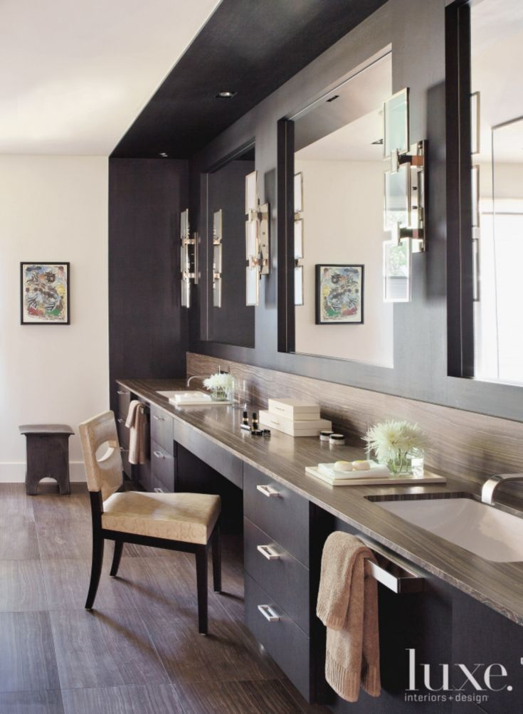 pictures to hang in master bathroom%0A White and Gray Traditional Bathroom  Luxe Interiors   Design