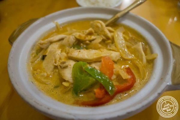 Chicken curry massaman atPad Thai, Thai restaurant in NYC, New York