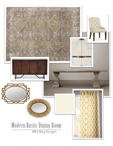 Pottery Barn Nora Rug Mia Chandelier Restoration Hardware Dumont Table Rustic Dining RoomsModern