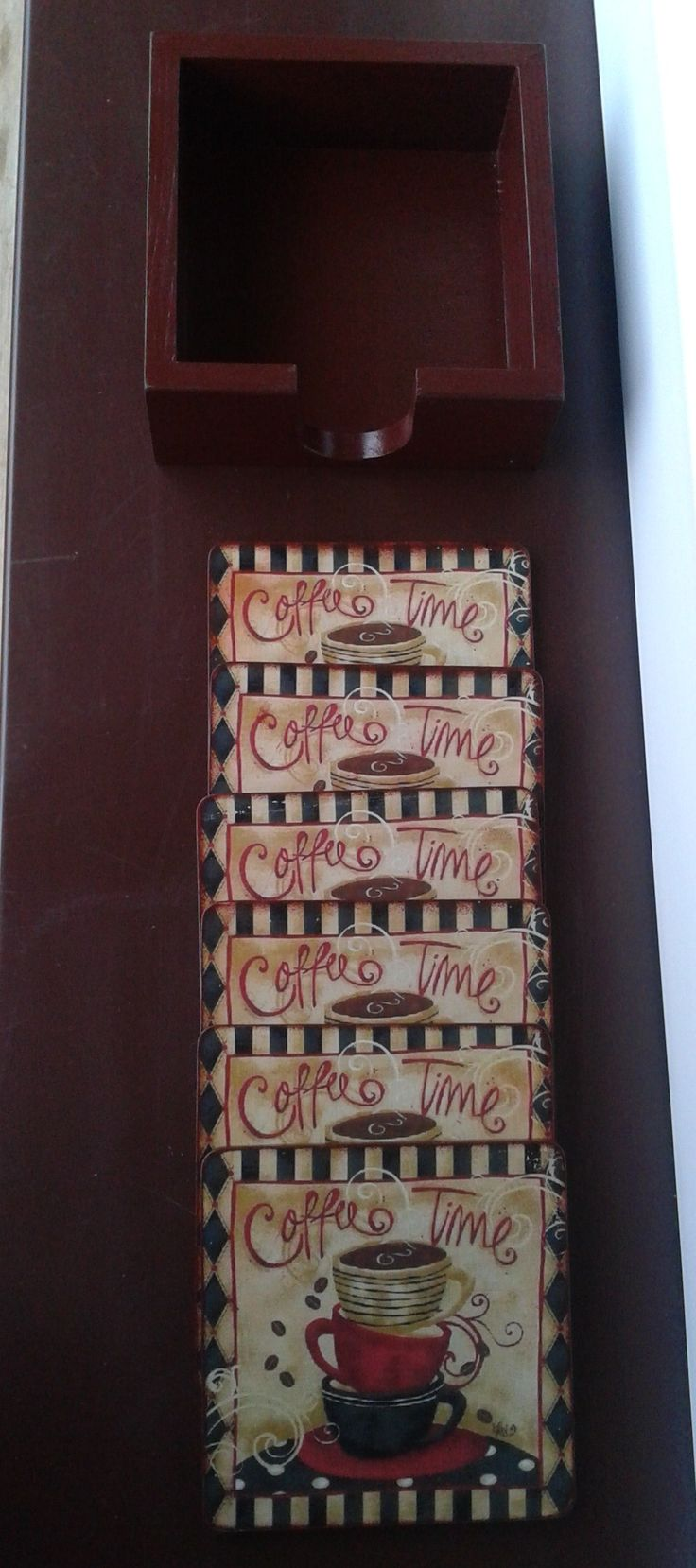 Coffee time, hand made, decoupage - cup stands