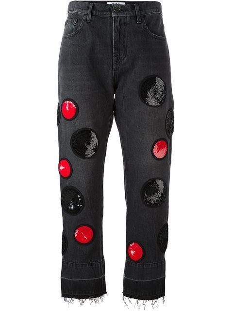MSGM джинсы с пайетками
