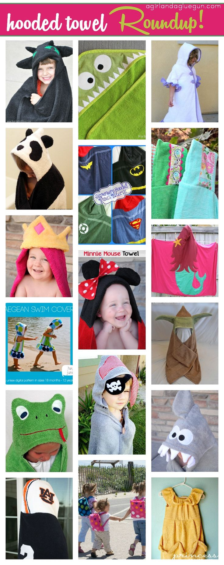 hooded bath towel--easy tutorial!!! - A girl and a glue gun