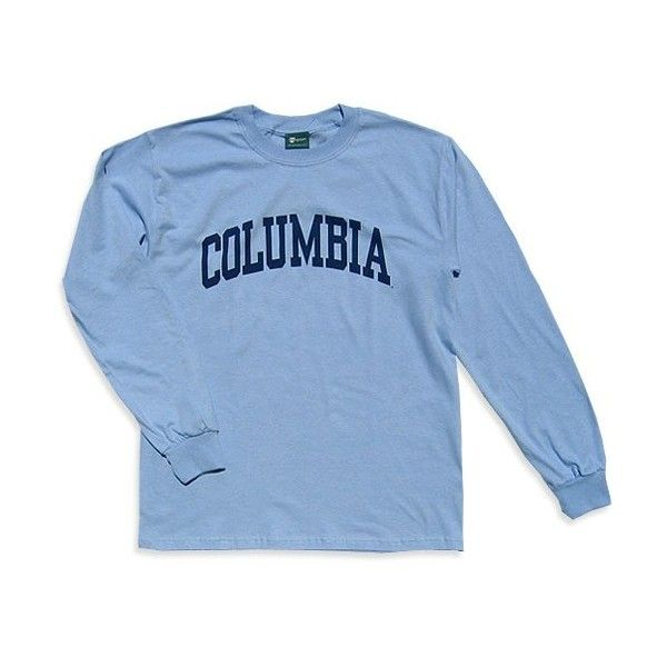 Columbia Classic L/S T-Shirt (Light Blue) ($23) ❤ liked on Polyvore featuring tops, t-shirts, long sleeves, shirts, columbia shirts, columbia t shirts, t shirts, cotton shirts and light blue long sleeve shirt