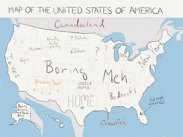Yes Its Another US Map According To Texans Spot On Texas - Map of us according to
