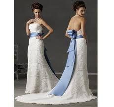 Image result for blue sash wedding dress