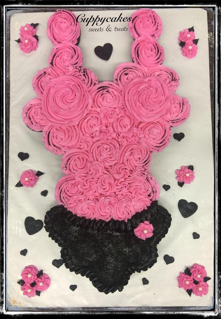 Lingerie cupcake cake